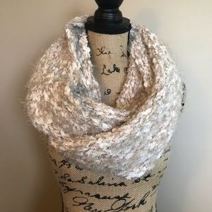 Beautiful beige, gold and cream scarf!